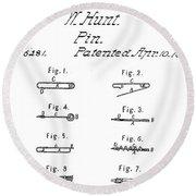 Walter Hunts Safety Pin Designs Round Beach Towel