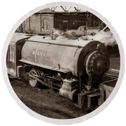 Wanamie Pennsylvania Coal Mine Locomotive Lokey 1969... Round Beach Towel