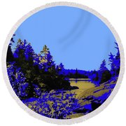 Wanapitae River Morning Round Beach Towel