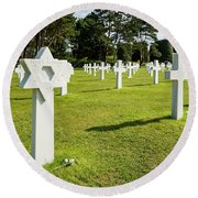 War Crosses In Normandy Round Beach Towel