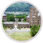 War Memorial Lyon Hall Cornell University Ithaca New York 01 Round Beach Towel