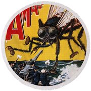 War Of The Worlds, 1927 Round Beach Towel