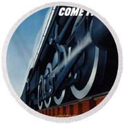 War Traffic Must Come First Round Beach Towel