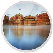 Warehouses Round Beach Towel