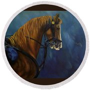 Warhorse-us Cavalry Round Beach Towel