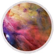 Warmth - Orion Nebula Round Beach Towel