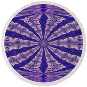 Warped Minds Eye Round Beach Towel