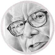 Warren Buffett Round Beach Towel