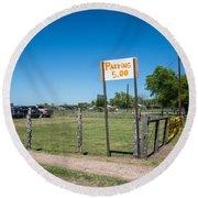 Warrenton Texas Antique Days Park Here Round Beach Towel