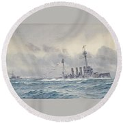Warrior After The Battle Of Jutland Round Beach Towel