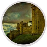 Warwick Castle Round Beach Towel by Chris Lord