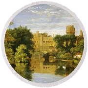 Warwick Castle Round Beach Towel