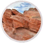 Wash 3 Beehives In Valley Of Fire Round Beach Towel