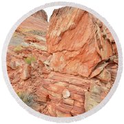 Wash 3 Of Valley Of Fire Round Beach Towel