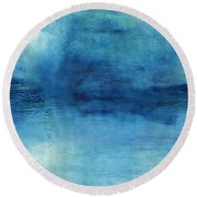 Wash Away- Abstract Art By Linda Woods Round Beach Towel