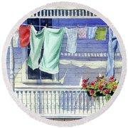 Wash Day Round Beach Towel