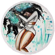 Wash Day Round Beach Towel
