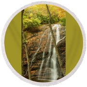 Wash Hollow Falls Nantahala National Forest Nc Round Beach Towel
