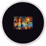 Washed City Round Beach Towel