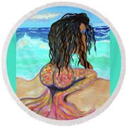 Washed Up - Mermaid Round Beach Towel