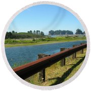 Washington Coast Round Beach Towel