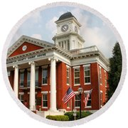 Washington County Courthouse Round Beach Towel by Kristin Elmquist