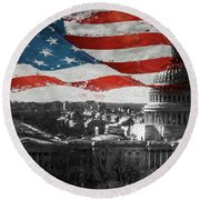 Washington Dc 56t Round Beach Towel