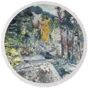 The Enchantments Round Beach Towel