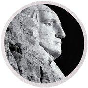 Washington Granite In Black And White Round Beach Towel
