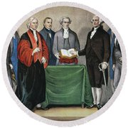 Washington: Inauguration Round Beach Towel