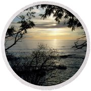 Washington Island Morning 4 Round Beach Towel
