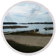 Washington Island Shore 2 Round Beach Towel
