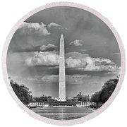 Washington Monument # 12 Round Beach Towel