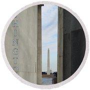 Washington Monuments Travel Round Beach Towel