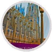 Washington National Cathedral Travel Round Beach Towel