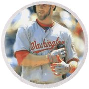 Washington Nationals Bryce Harper Round Beach Towel