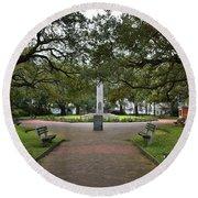 Washington Park, Charleston, Sc Round Beach Towel