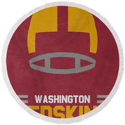 Washington Redskins Vintage Art Round Beach Towel