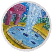 Washington Sqaure Park Round Beach Towel