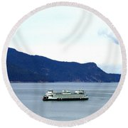 Washington State Ferry Round Beach Towel