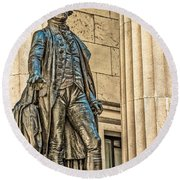 Washington Statue - Federal Hall  #1 Round Beach Towel