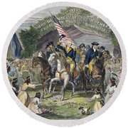 Washington: Trenton, 1789 Round Beach Towel