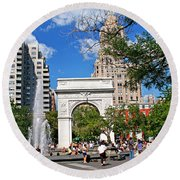 Washingtone Square New York Round Beach Towel