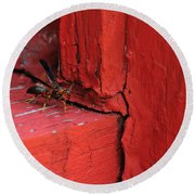 Wasp And Red Round Beach Towel