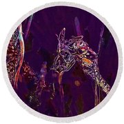 Wasp Insect Makrom Close Up Sting  Round Beach Towel