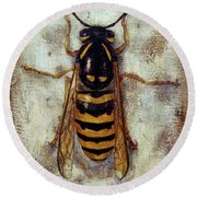 Wasp Round Beach Towel