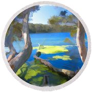 Wat-0002 Avoca Estuary Round Beach Towel