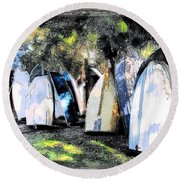 Wat-0008 Boat Hire Round Beach Towel