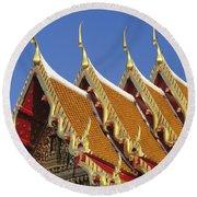 Wat Benjamabophit Round Beach Towel