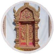 Wat Buppharam Phra Wihan Window Dthcm1581 Round Beach Towel